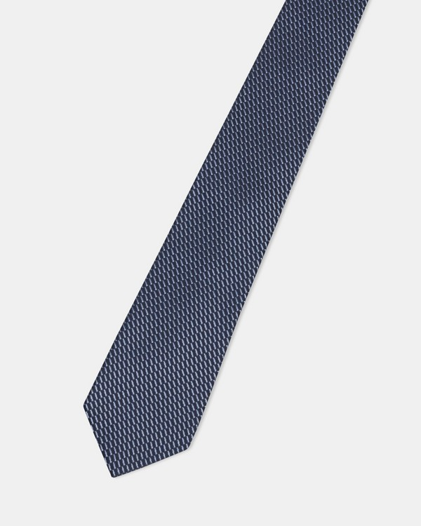 Roadster Tie in Grid Silk