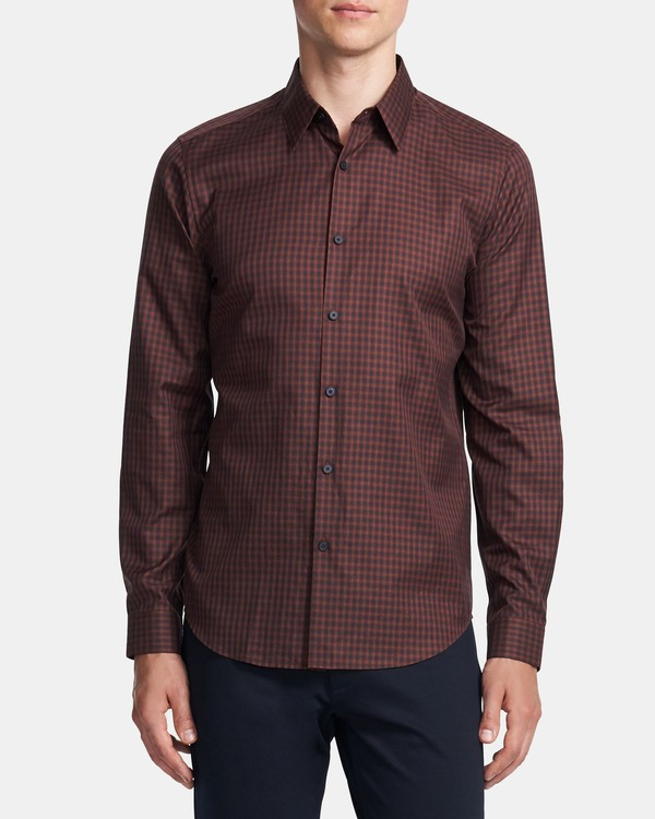 Standard-Fit Shirt in Check Cotton