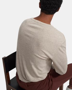 Henley Shirt in Ribbed Cotton-Alpaca