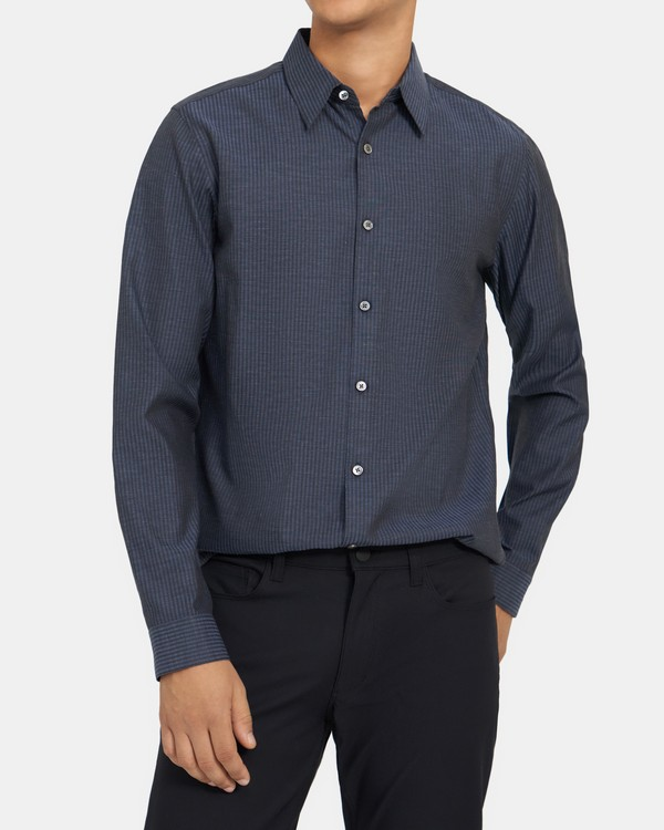 Standard-Fit Shirt in Dobby Cotton