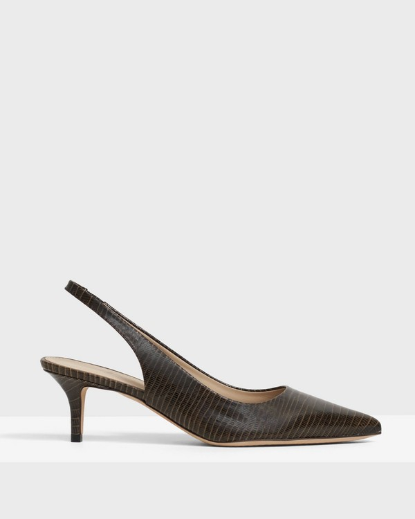 City 55 Slingback in Lizard Print Leather
