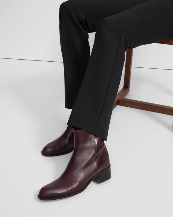 띠어리 Theory Slit Boot in Leather,OXBLOOD