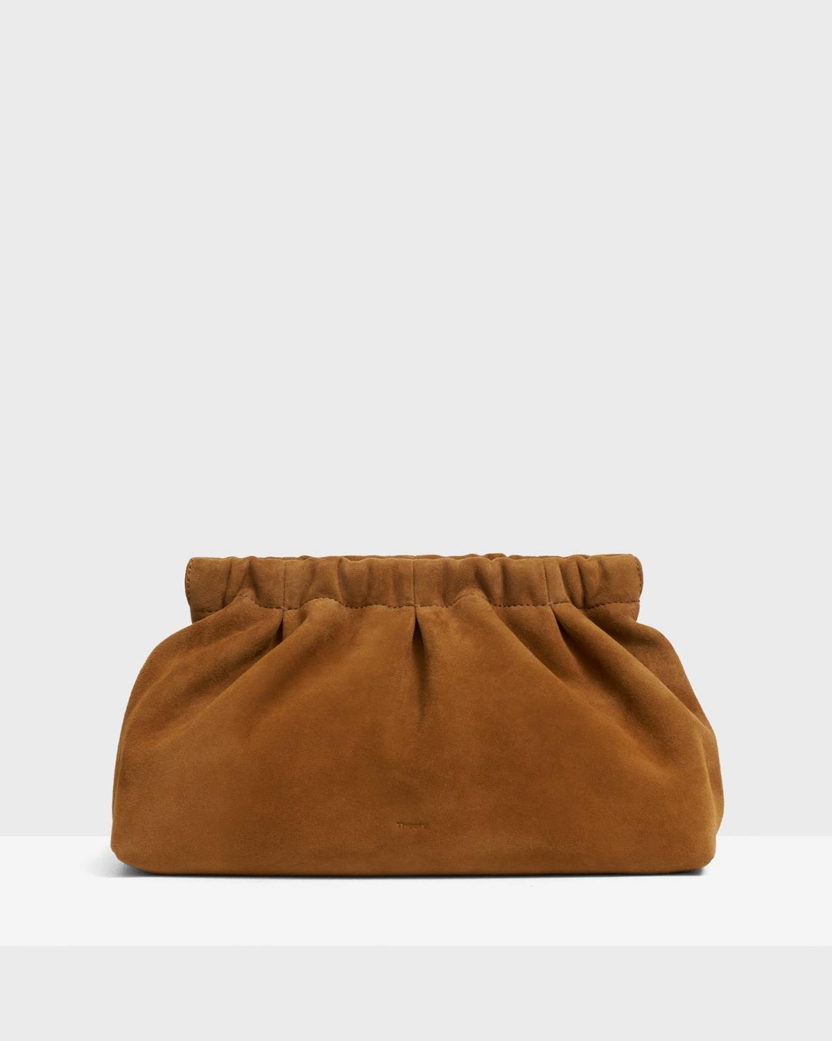 Pleated Clutch in Suede