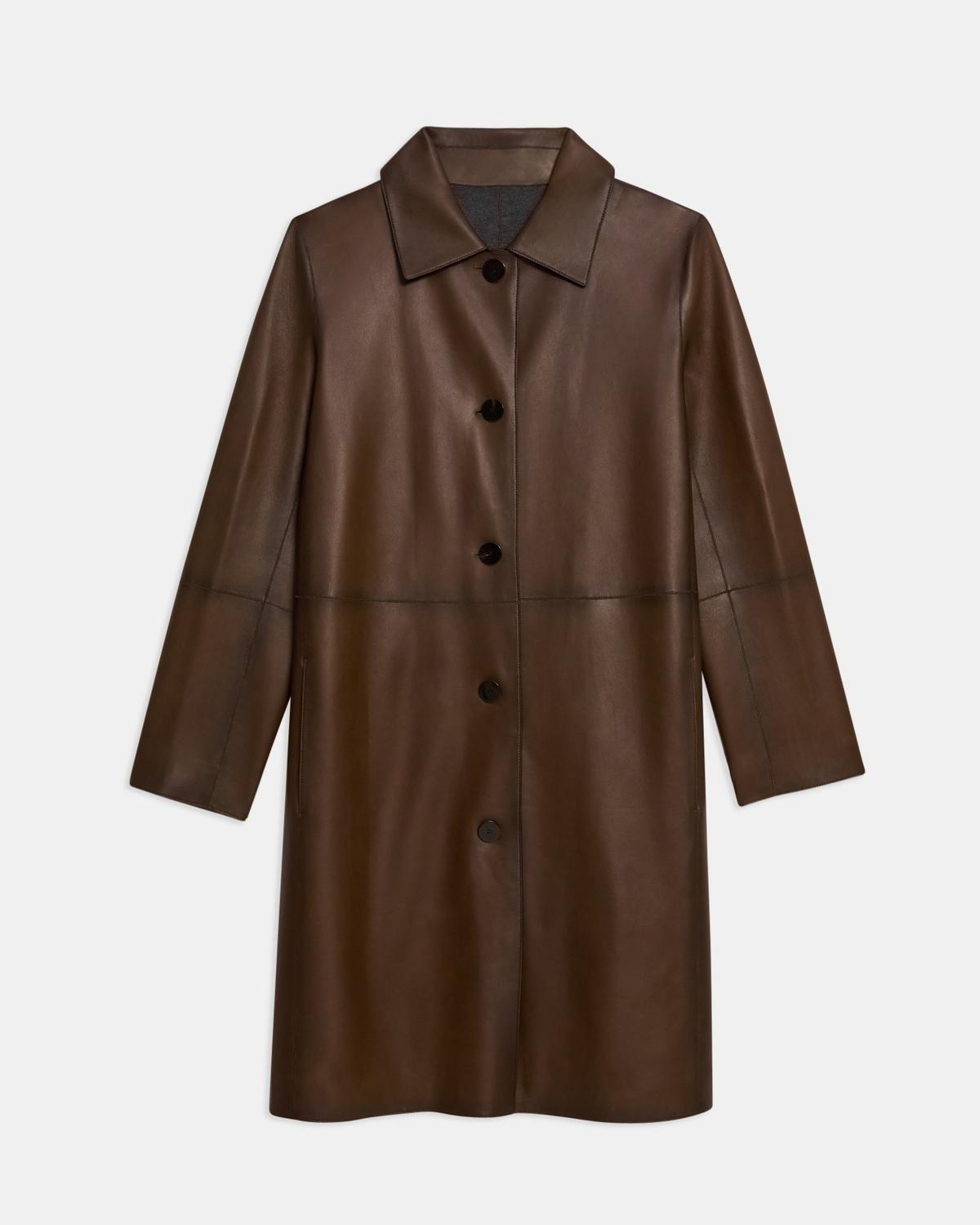 Piazza Coat in Leather