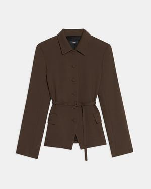 Military Jacket in Utility Wool