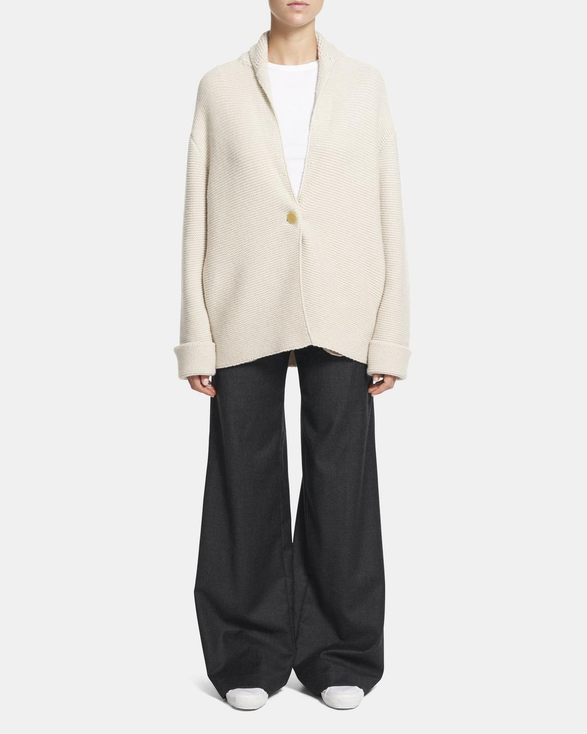 Sweater Coat in Wool-Cashmere