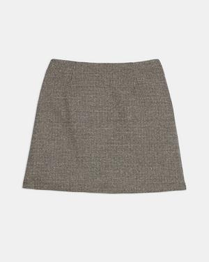 A-Line Mini Skirt in Houndstooth Knit