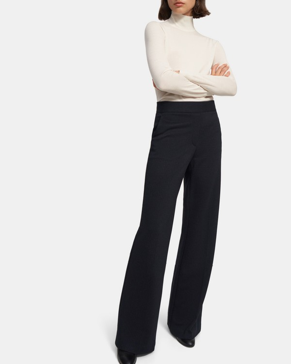 20FW 띠어리 탈버트 풀온 팬츠 Theory Talbert Pull-On Pant in Striped Viscose Knit,NAVY MULTI
