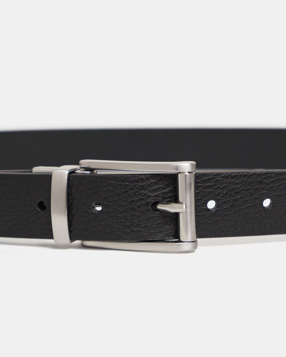 Reversible Belt in Pebbled Leather