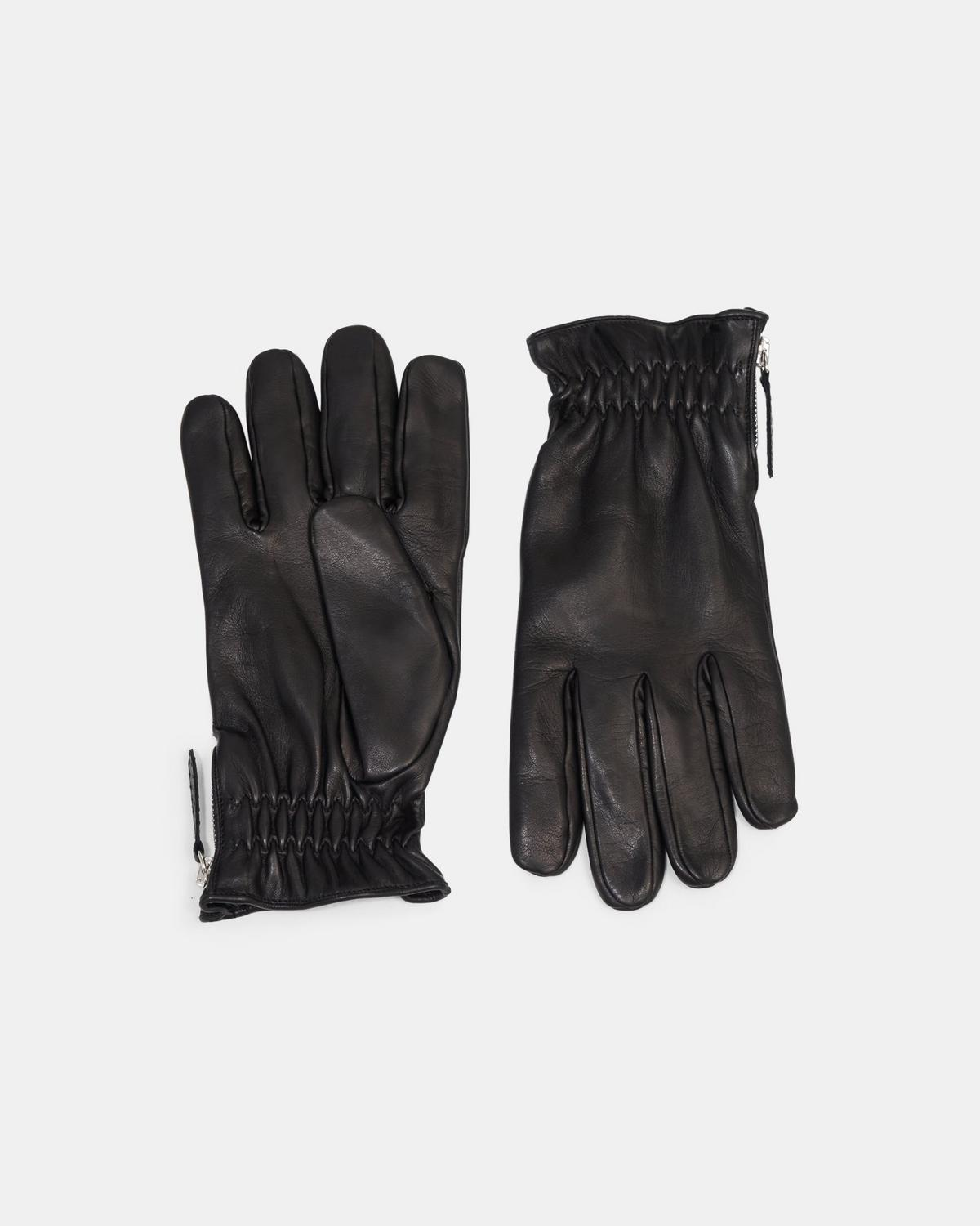 Zip Gloves in Leather