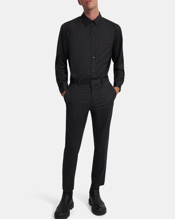 Curtis Pant in Mélange Wool Twill