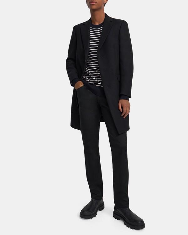 띠어리 챔버스 코트, 트레이서블 울 멜튼 Theory Chambers Coat in Traceable Wool Melton,BLACK