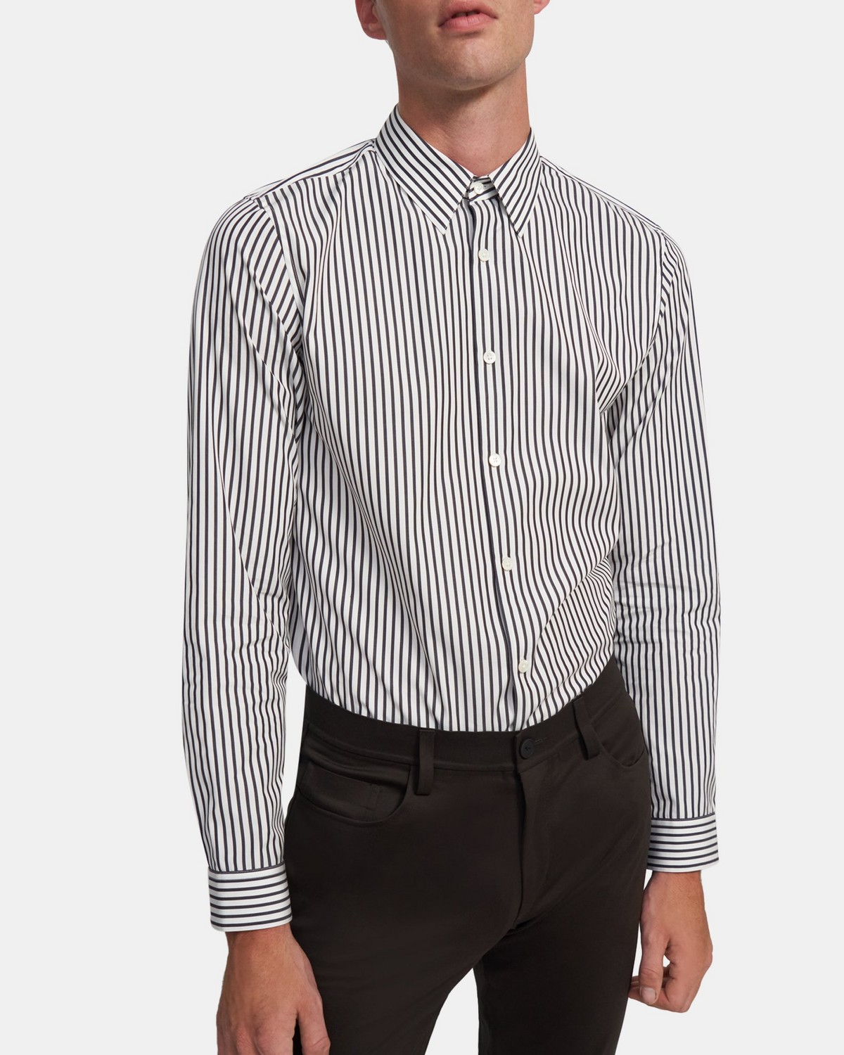 Irving Shirt in Striped Organic Cotton