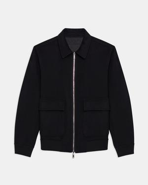 Reversible Bomber Jacket in Double-Face Cashmere
