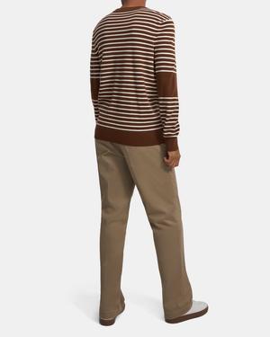 Striped Crewneck Sweater in Merino Wool