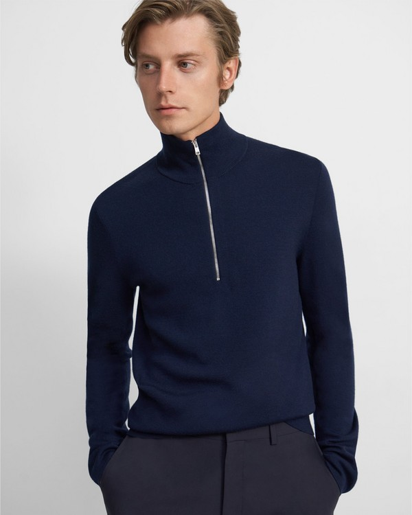 Quarter-Zip Sweater in Merino Wool