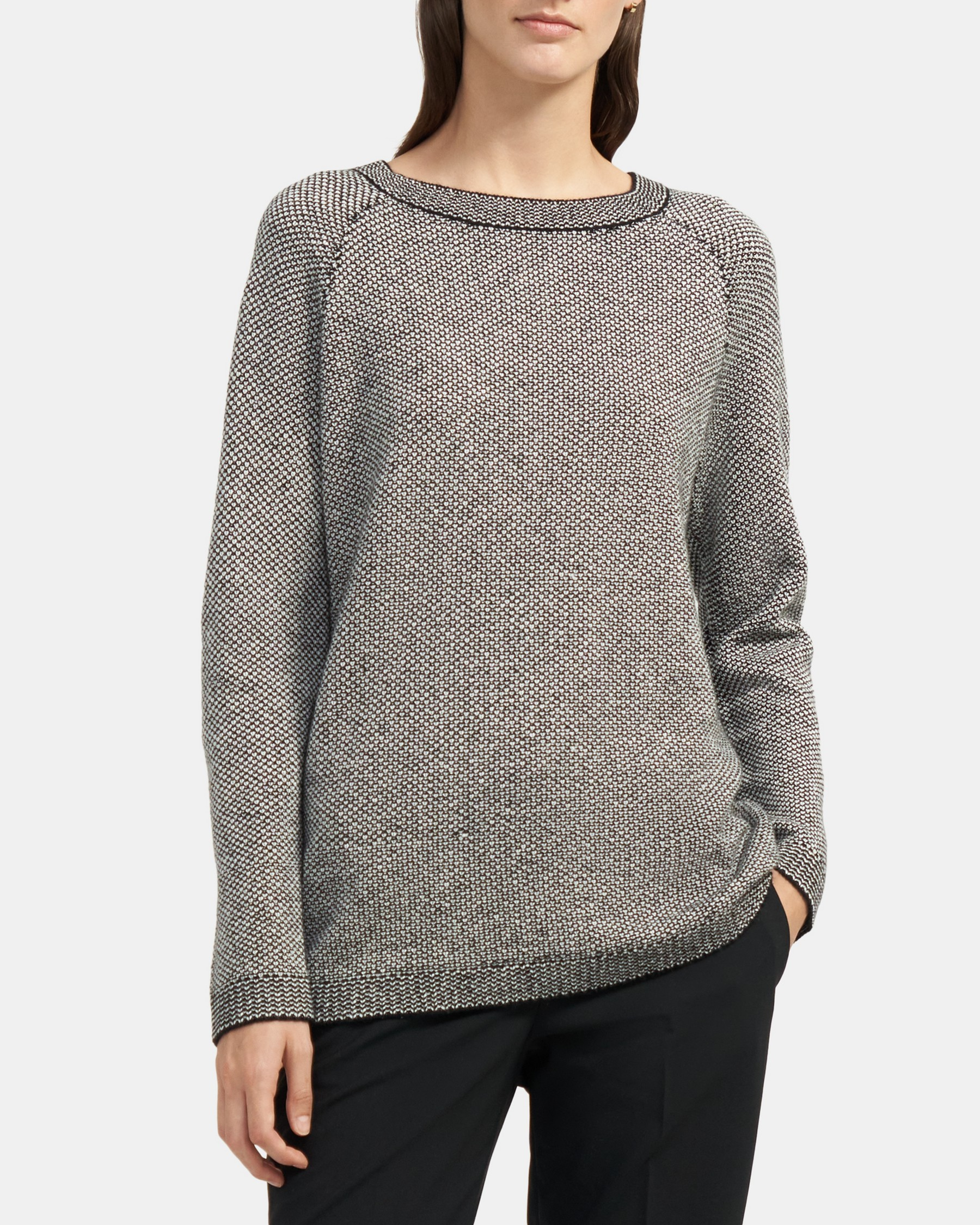 Theory Textured-Knit Pullover in Cashmere