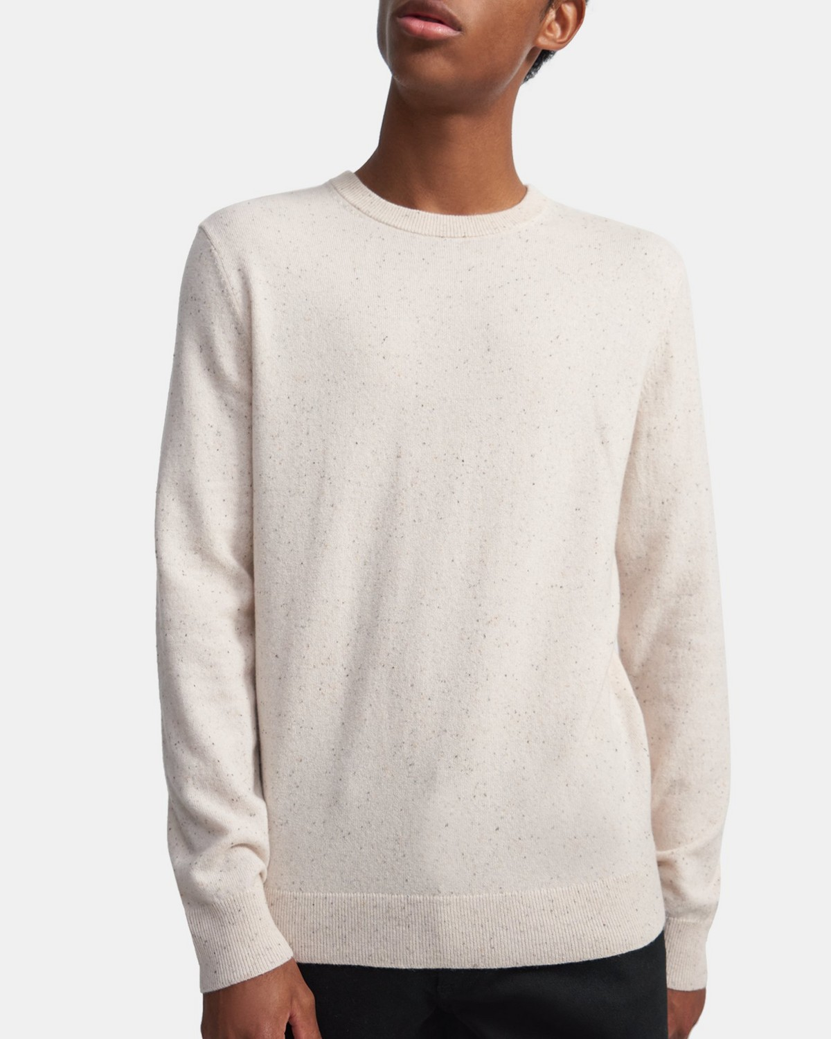 Crewneck Sweater in Donegal Cashmere