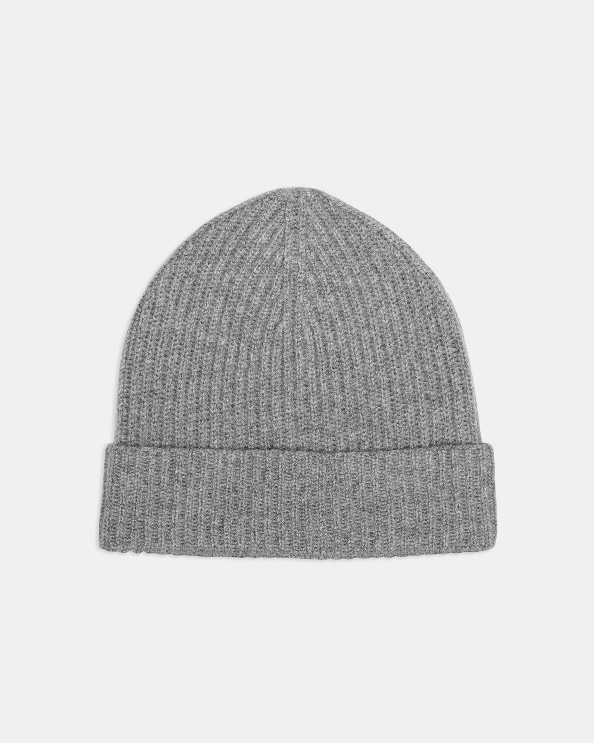 Camden Beanie in Ribbed Cashmere