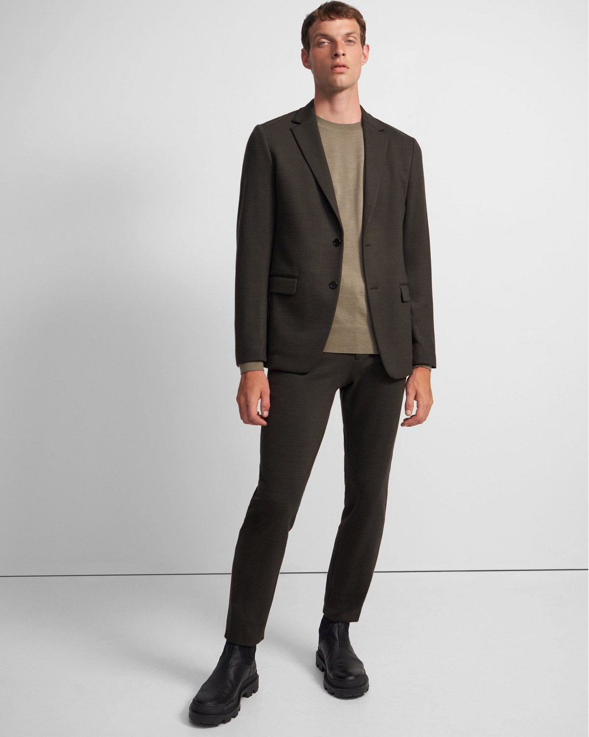 Clinton Blazer in Wool Ponte