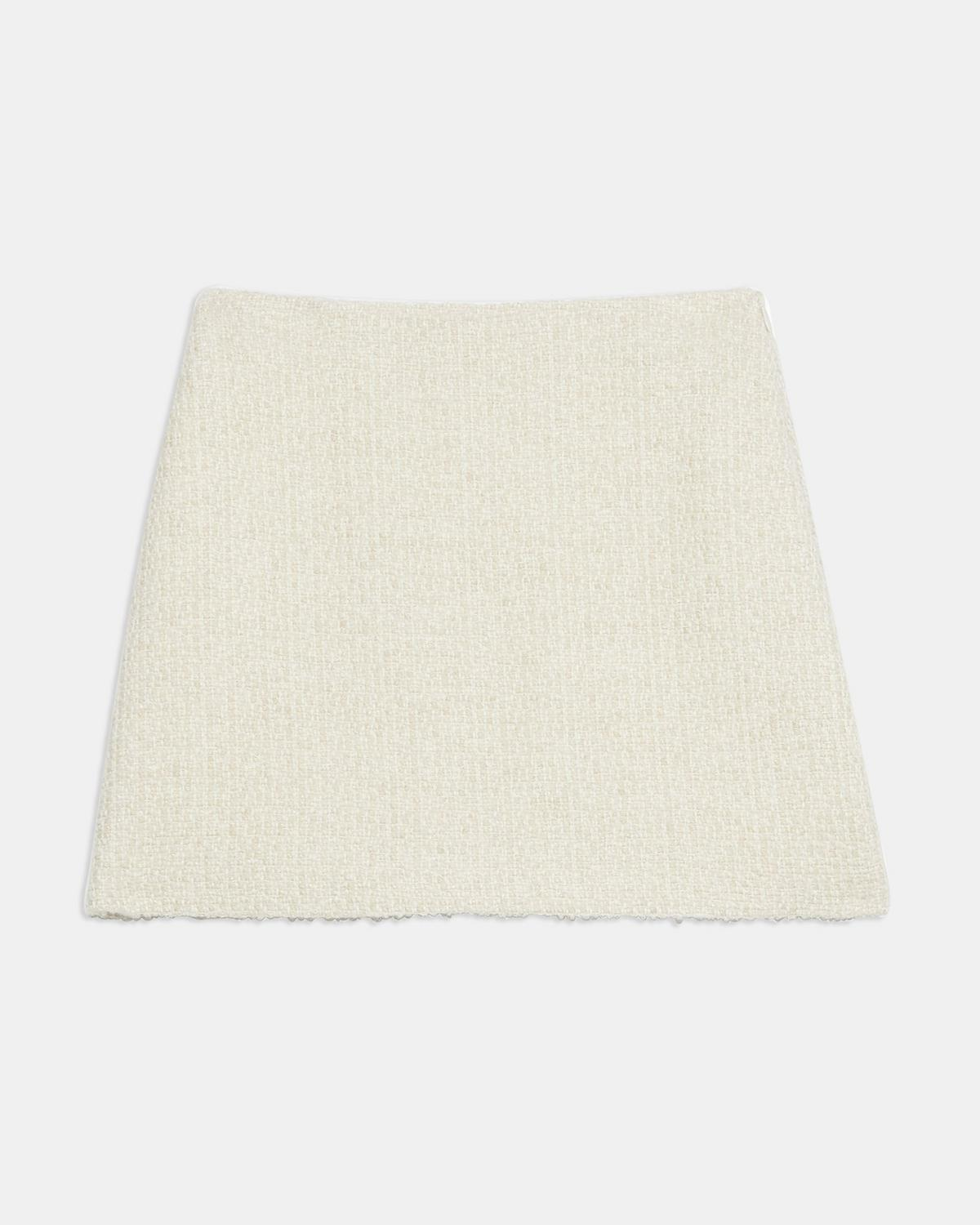 A-Line Mini Skirt in Tweed