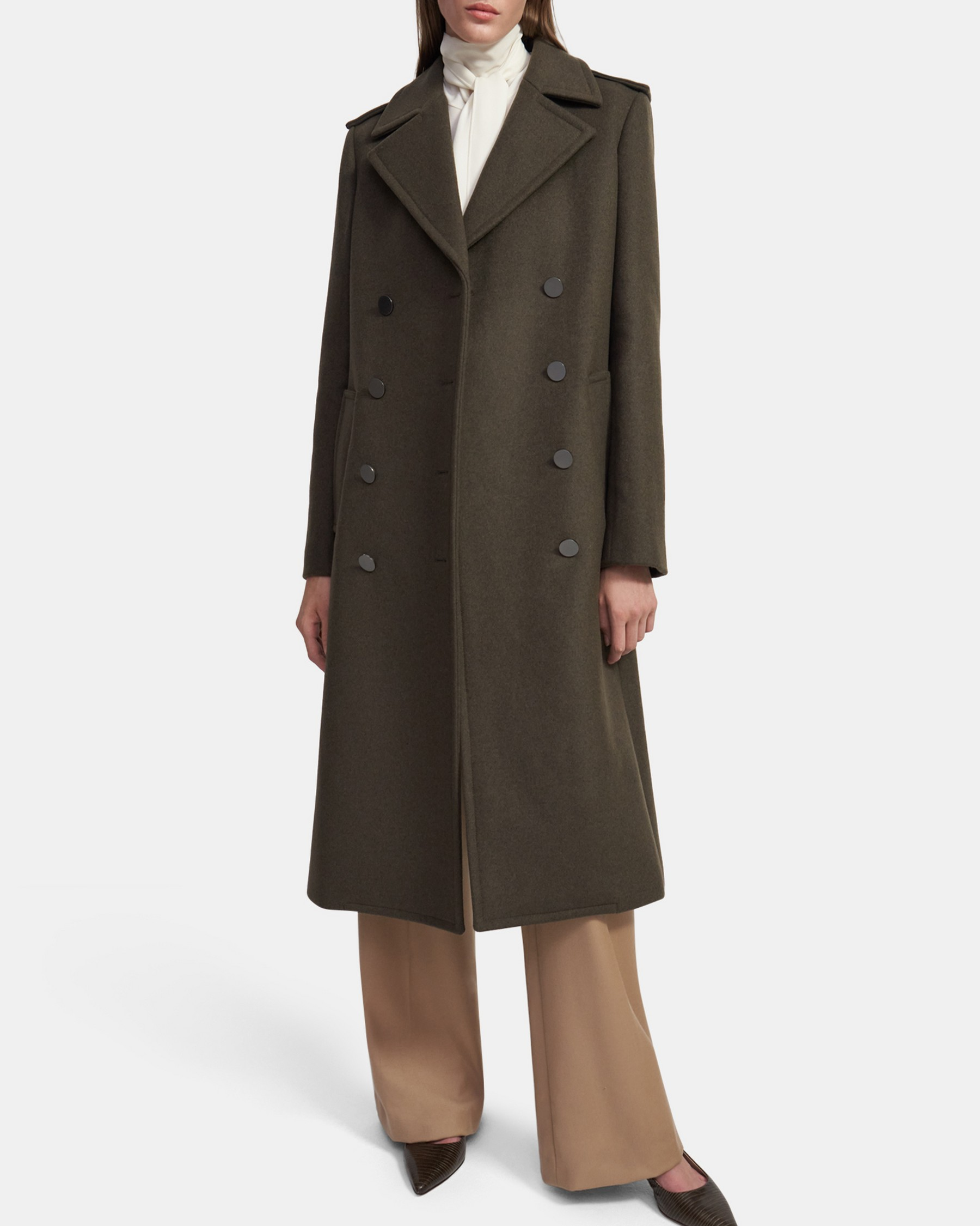 Theory Sargent Coat in Recycled Wool