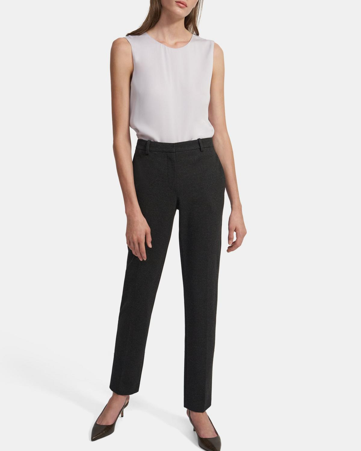 Treeca Full Length Pant in Viscose Knit