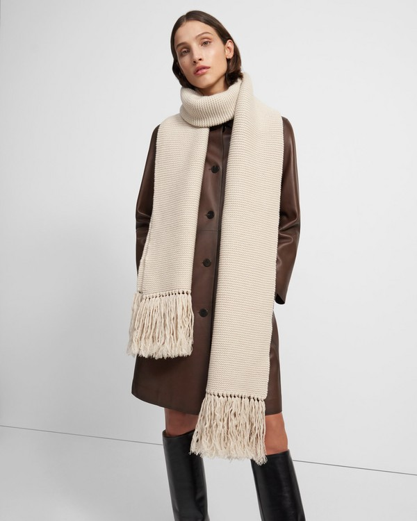 Oversized Scarf in Wool-Cashmere Knit