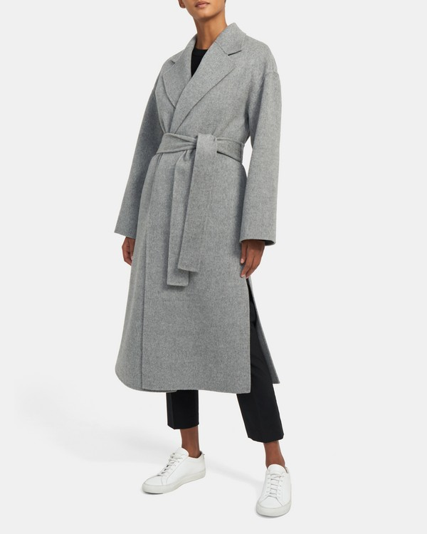 Robe Coat in Double-Face Wool-Cashmere