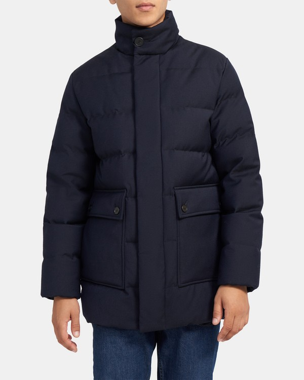 Puffer Coat in Storm Wool
