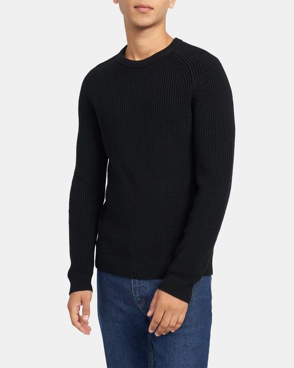 띠어리 맨 레미 스웨터 Theory Remy Sweater in Merino Wool,BLACK