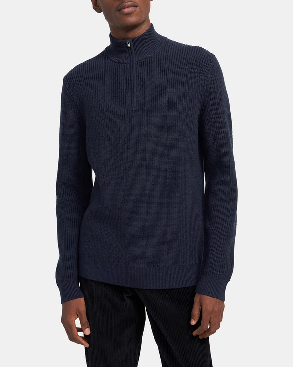 Half-Zip Sweater in Merino Wool