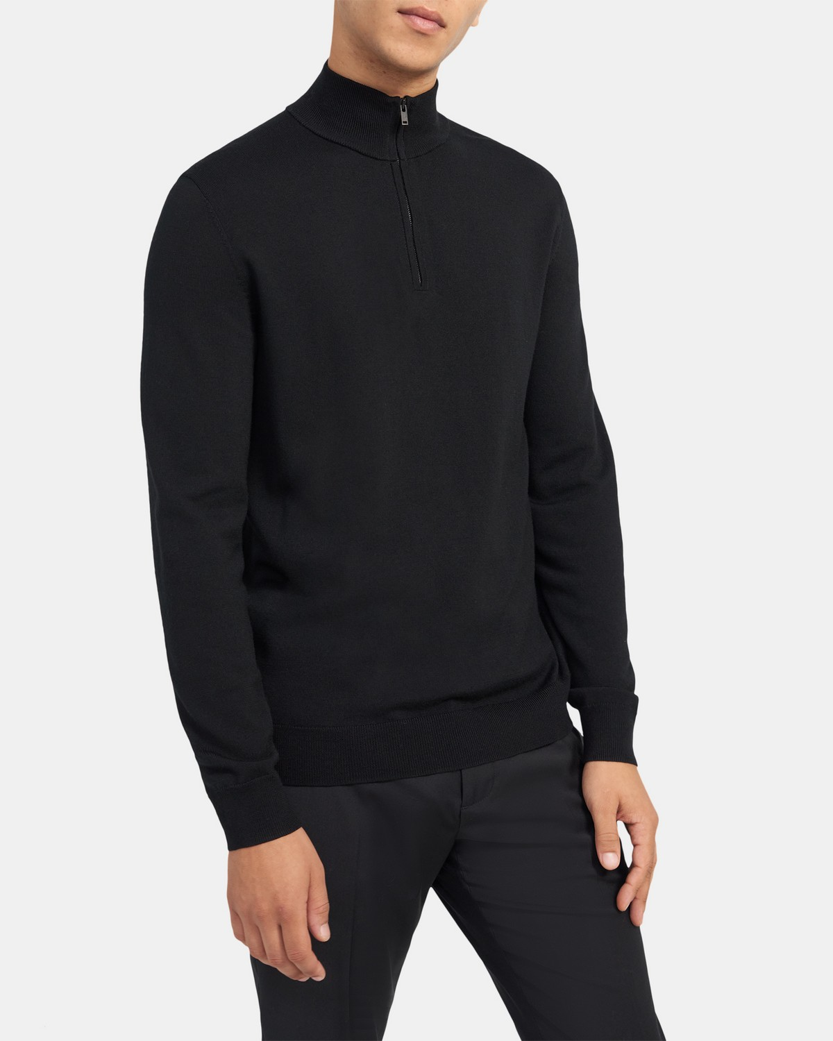 Half-Zip Sweater in Ace Wool