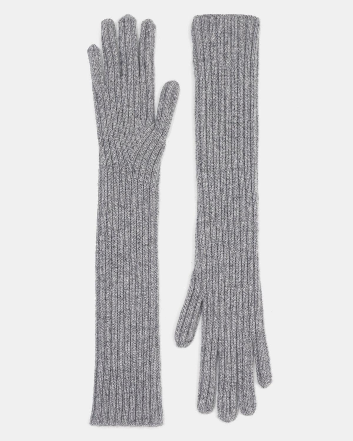 Gloves in Ribbed Cashmere