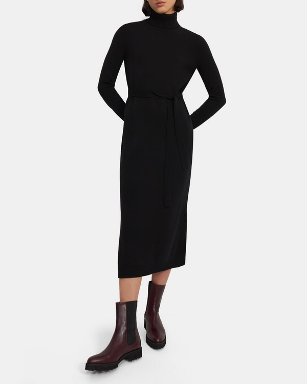 Belted Midi Dress in Cashmere