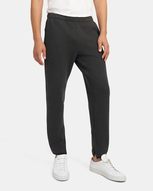 Sweatpants in Mélange Cotton Piqué