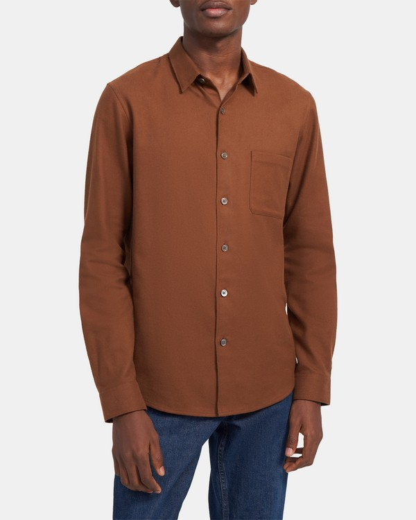 Long-Sleeve Shirt in Cotton Twill