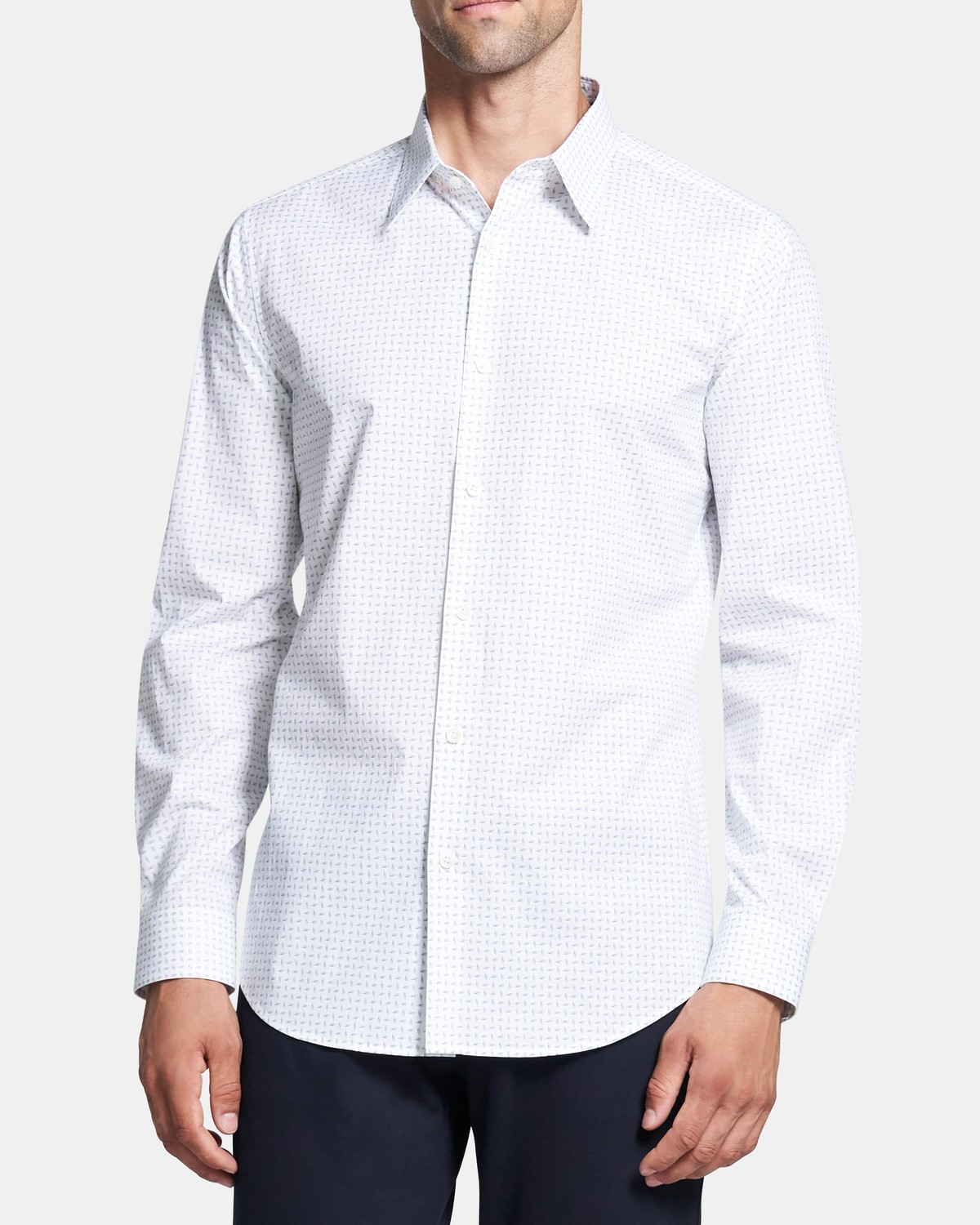 Sylvain Shirt in Flecked Cotton