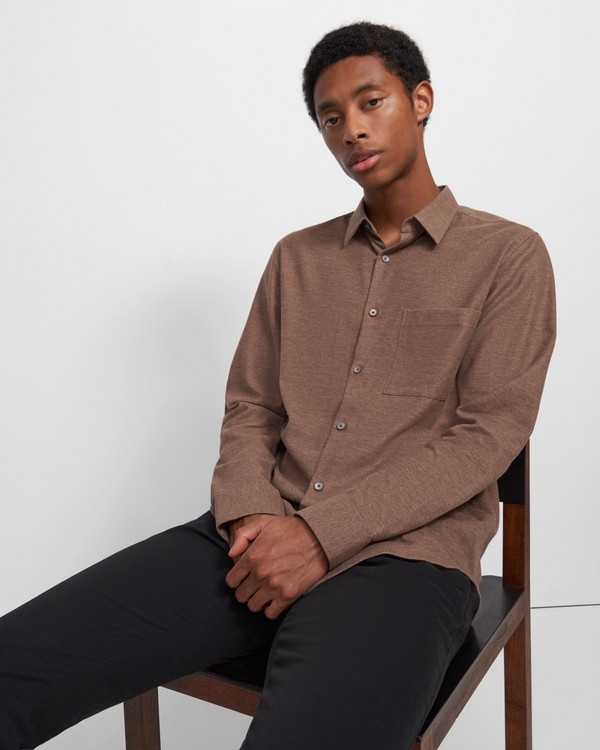 Irving Shirt in Brushed Cotton