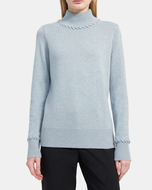 Whipstitched Turtleneck in Cashmere