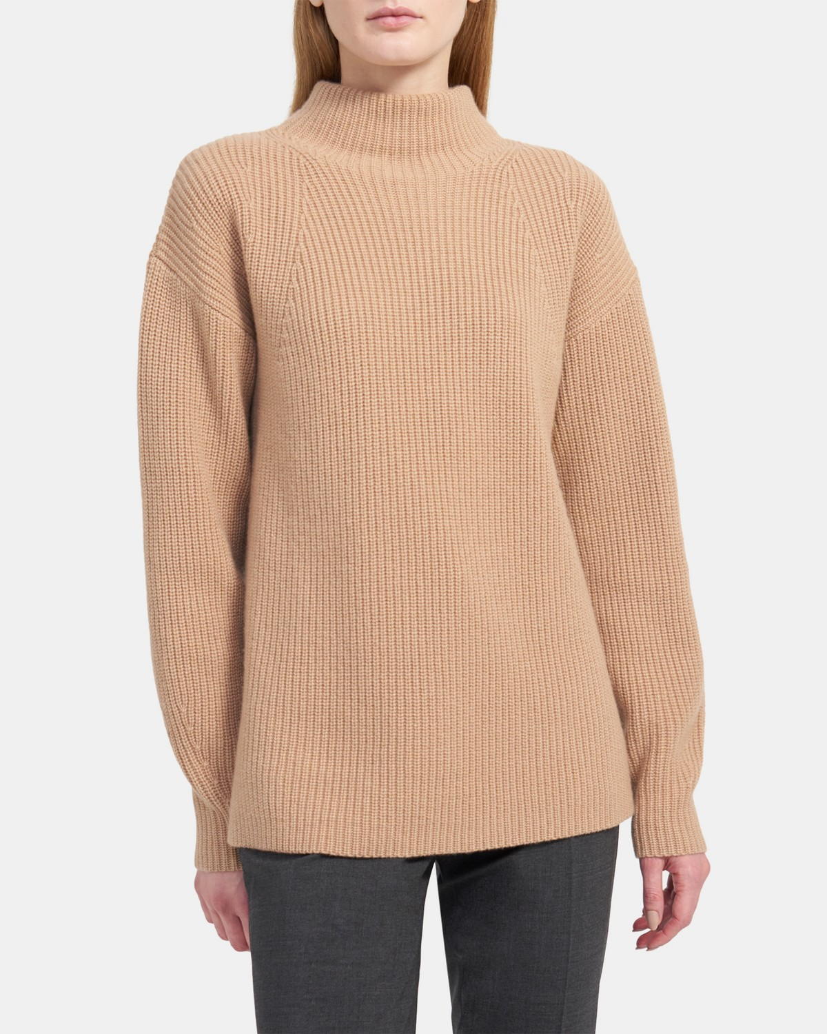 Ribbed Pullover in Cashmere