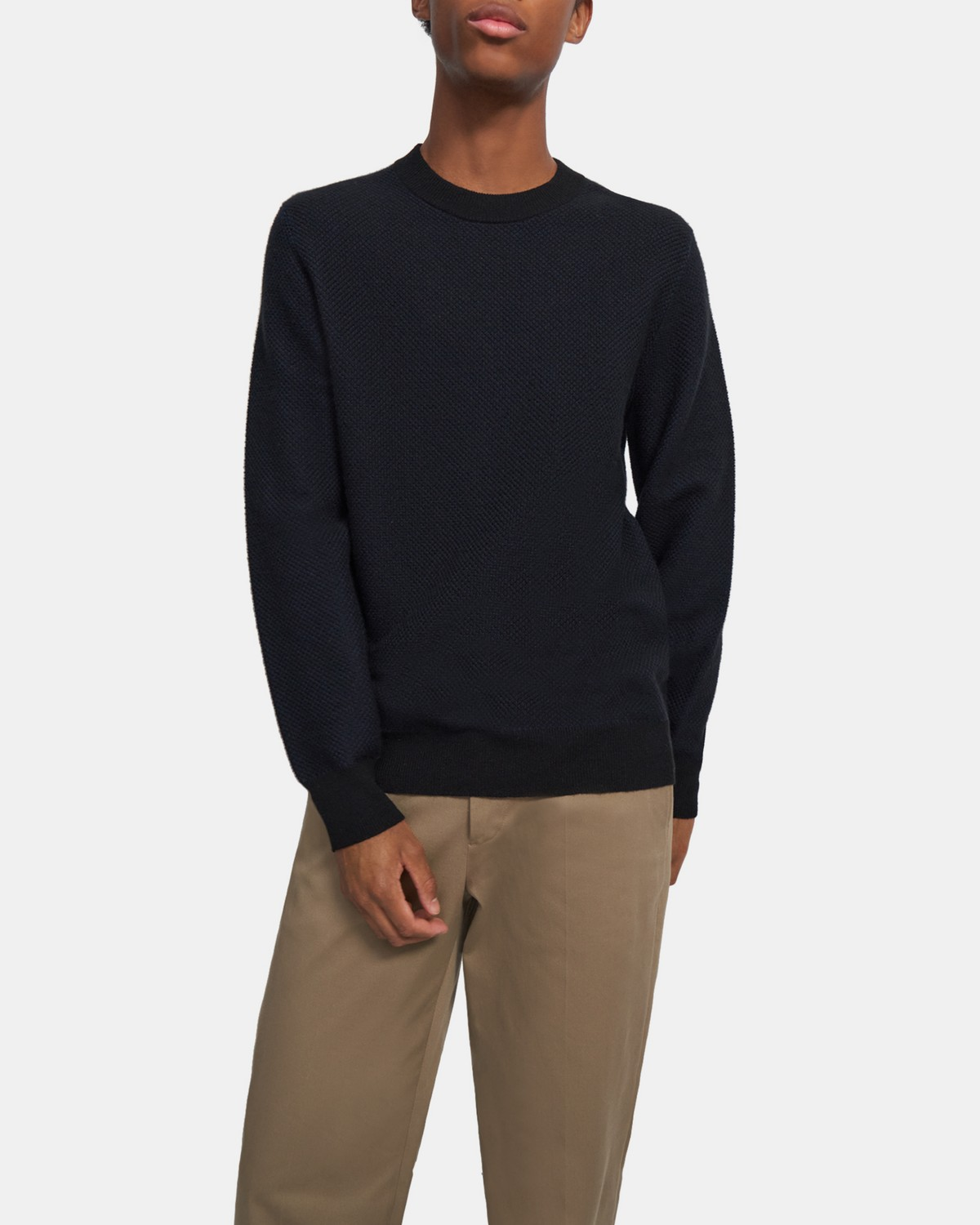 Crewneck Sweater in Cashmere Jacquard