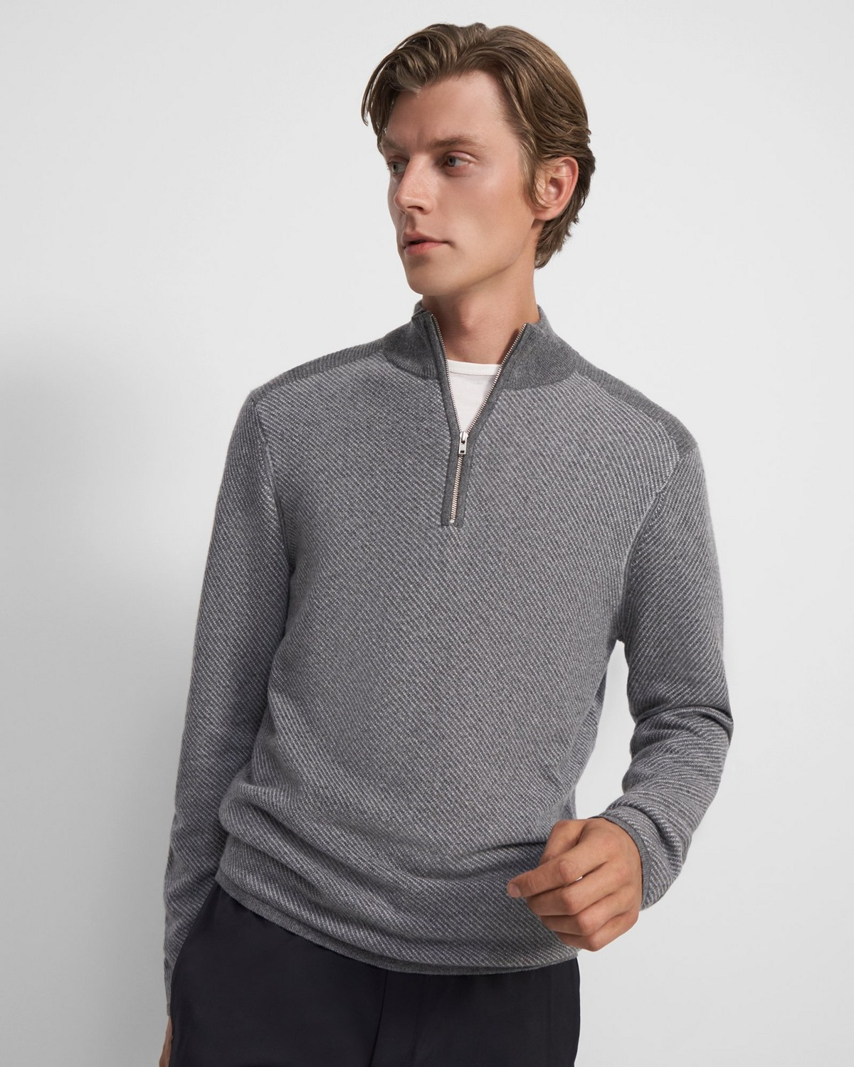 Canyon Quarter-Zip Sweater in Cashmere