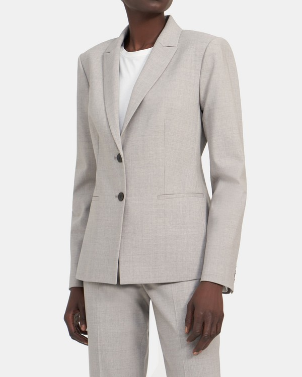 Nichelle Two-Button Blazer in Stretch Wool