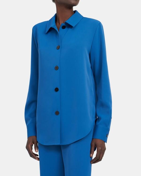 띠어리 버튼업 셔츠, 매트 트윌 - 버뮤다 Theory Button-Up Shirt in Matte Twill K105510R