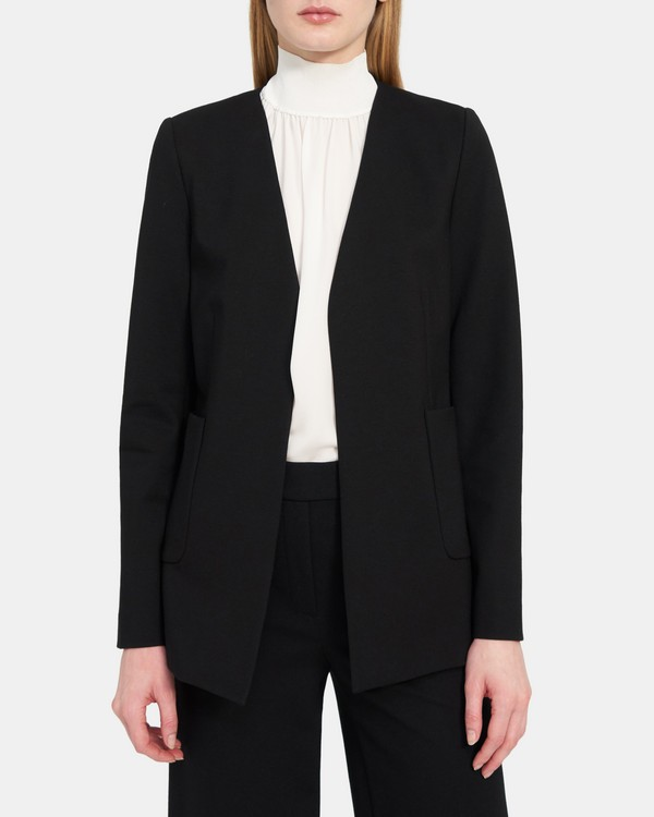 Open-Front Blazer in Stretch Knit