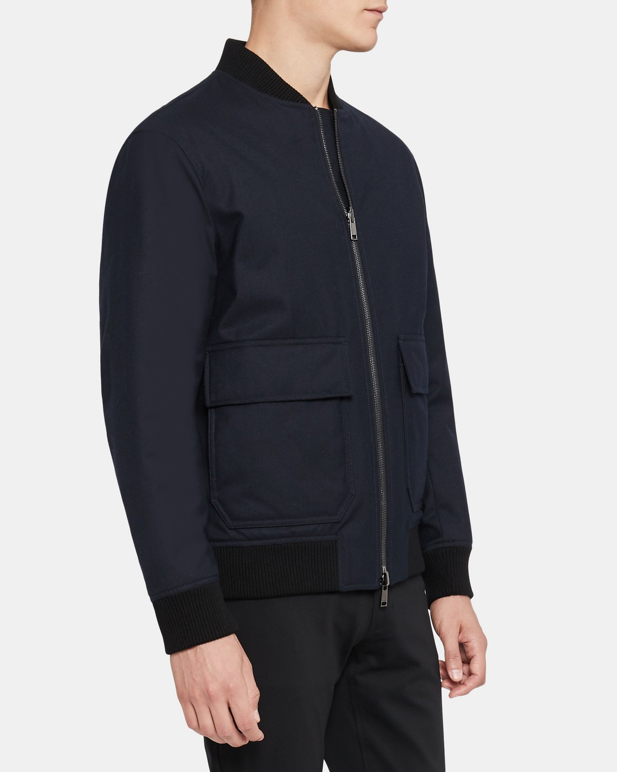 Reversible Bomber Jacket in Wool