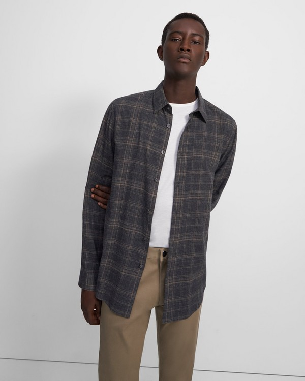 Irving Shirt in Plaid Flannel