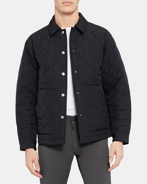 Shirt Jacket in Quilted Nylon
