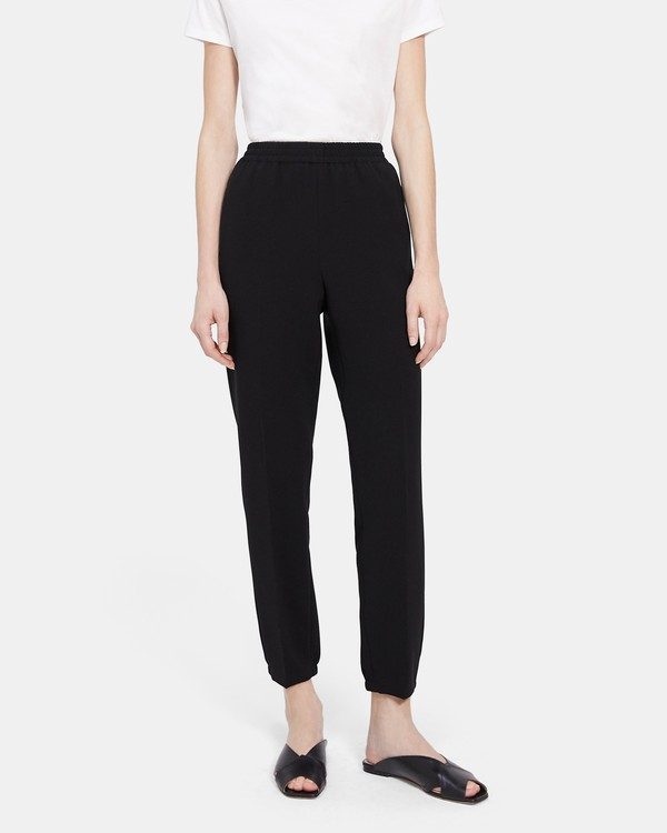 Easy Jogger Pant in Crepe